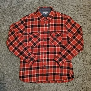 J Crew Wallace & Barnes Red Flannel Shirt Jacket